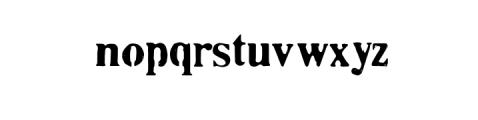 Plummer Script Typeface Font LOWERCASE