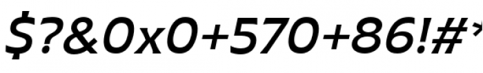 Plathorn Extended Demi Italic Font OTHER CHARS