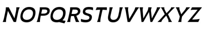 Plathorn Extended Demi Italic Font UPPERCASE