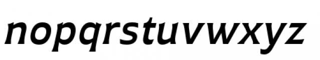 Plathorn Extended Demi Italic Font LOWERCASE