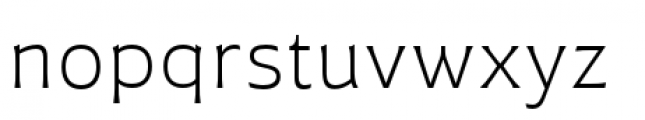 Plathorn Extended Light Font LOWERCASE