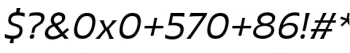 Plathorn Extended Regular Italic Font OTHER CHARS
