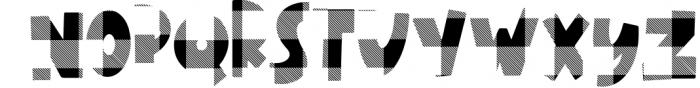 Plaid Chameleon A Block Font with Plaid Font UPPERCASE