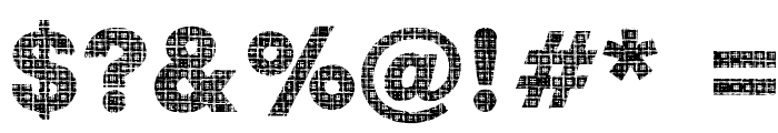 Plaid Font OTHER CHARS