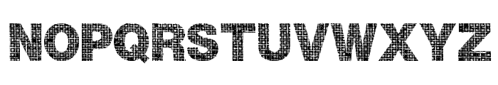 Plaid Font UPPERCASE