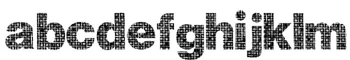Plaid Font LOWERCASE