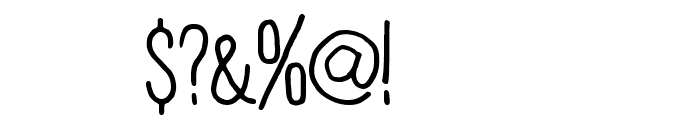 Plain Old Handwriting Font OTHER CHARS