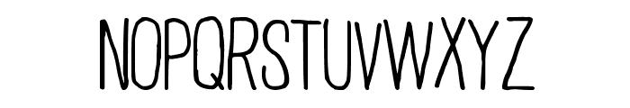 Plain Old Handwriting Font UPPERCASE