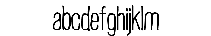 Plain Old Handwriting Font LOWERCASE