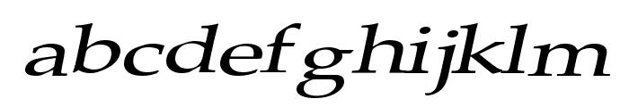 Plain Squashed Font LOWERCASE