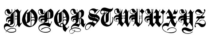 PlainBlack Normal Font UPPERCASE