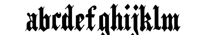 PlainBlack Normal Font LOWERCASE