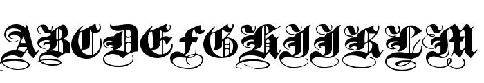 PlainBlackWide Normal Font UPPERCASE