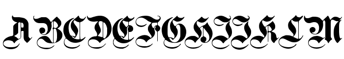PlainGermanica Font UPPERCASE