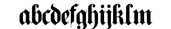 PlainGermanica Font LOWERCASE