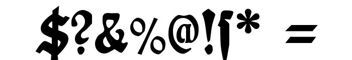 Plakat-Fraktur Black Font OTHER CHARS