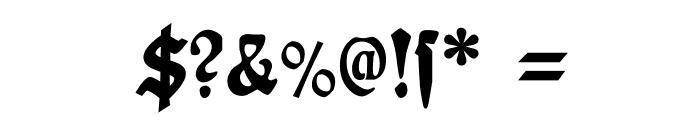 PlakatFraktur Font OTHER CHARS