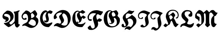 PlakatFraktur Font UPPERCASE