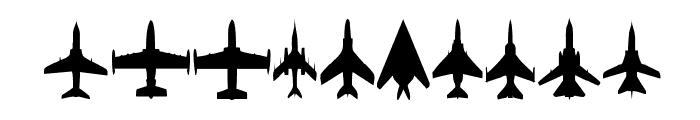 Planes-T-Modern Font OTHER CHARS
