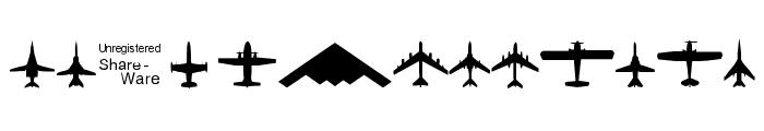 Planes-T-Modern Font UPPERCASE