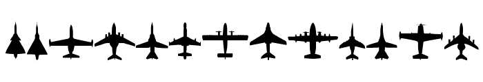 Planes-T-Modern Font LOWERCASE