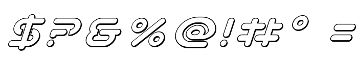 Planet N 3D Italic Font OTHER CHARS