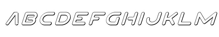 Planet N 3D Italic Font LOWERCASE