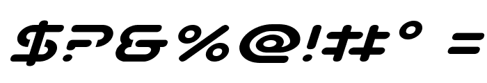 Planet N Compact Expanded Italic Font OTHER CHARS