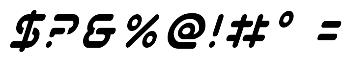 Planet N Condensed Italic Font OTHER CHARS