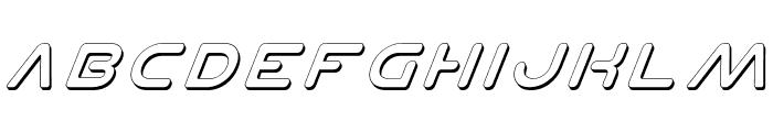 Planet N Shadow Italic Font UPPERCASE