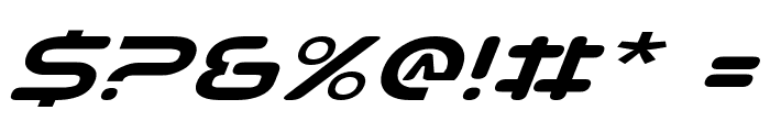 Planet NS Expanded Italic Font OTHER CHARS