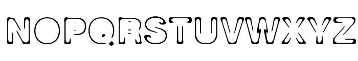 Planet Orbit Font UPPERCASE