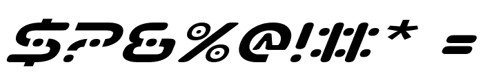 Planet S Expanded Italic Font OTHER CHARS