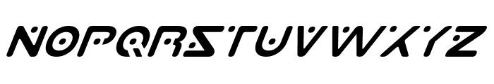 Planet S Italic Font UPPERCASE