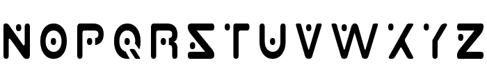 Planet X Condensed Font UPPERCASE