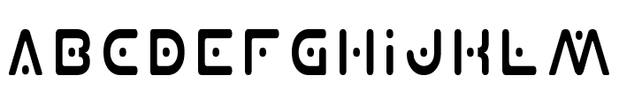 Planet X Condensed Font LOWERCASE