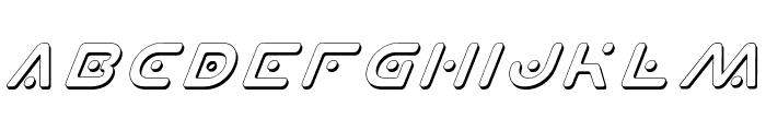 Planet X Shadow Italic Font UPPERCASE