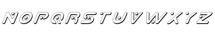 Planet X Shadow Italic Font LOWERCASE