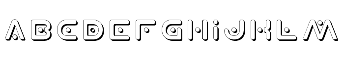 Planet X Shadow Font LOWERCASE