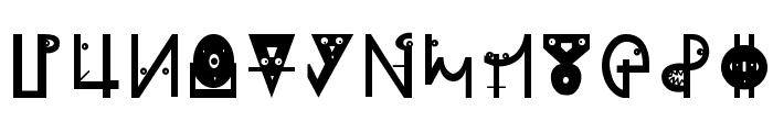 PlanetarishBats Font UPPERCASE