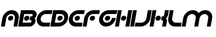 Planetary Orbiter Bold Italic Font UPPERCASE