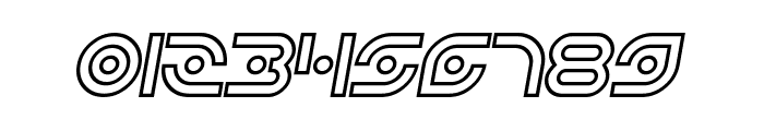 Planetary Orbiter Outline Bold Italic Font OTHER CHARS