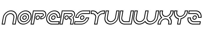 Planetary Orbiter Outline Bold Italic Font UPPERCASE