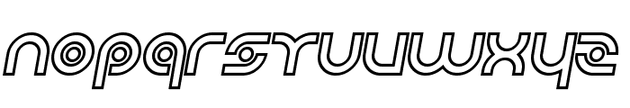 Planetary Orbiter Outline Bold Italic Font LOWERCASE
