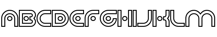 Planetary Orbiter Outline Bold Font UPPERCASE