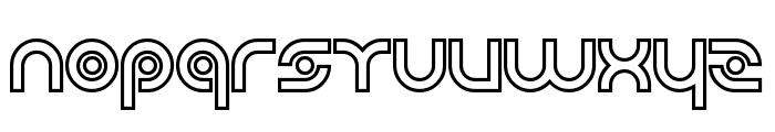 Planetary Orbiter Outline Bold Font LOWERCASE