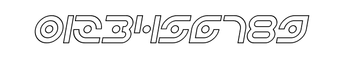 Planetary Orbiter Outline Italic Font OTHER CHARS