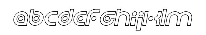 Planetary Orbiter Outline Italic Font LOWERCASE