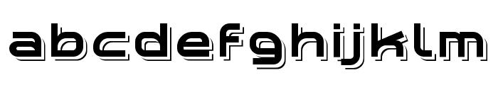 Planetium-X Shadowed Demo Font LOWERCASE