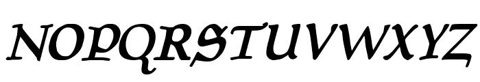 Planewalker Bold Italic Font UPPERCASE